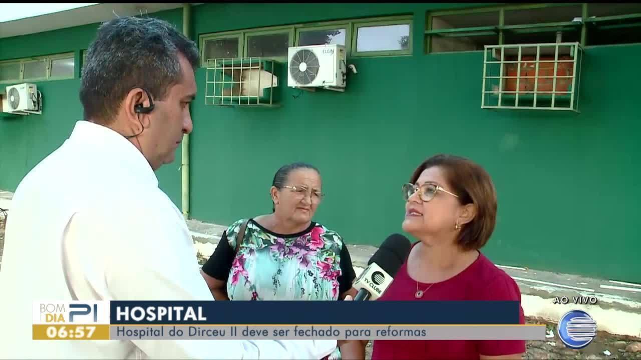 Hospital do Dirceu II deve ser fechado para reformas