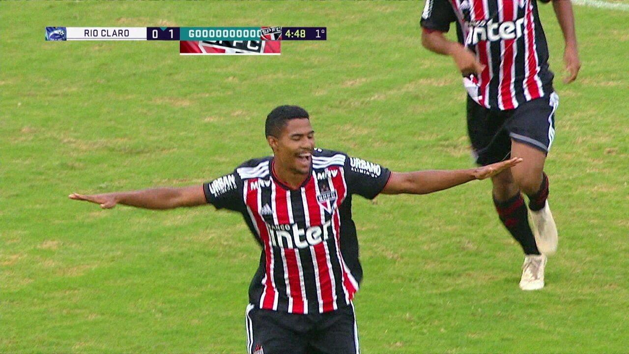 Os gols de São Paulo 3 x 0 Rio Claro pela Copa SP de Futebol Júnior