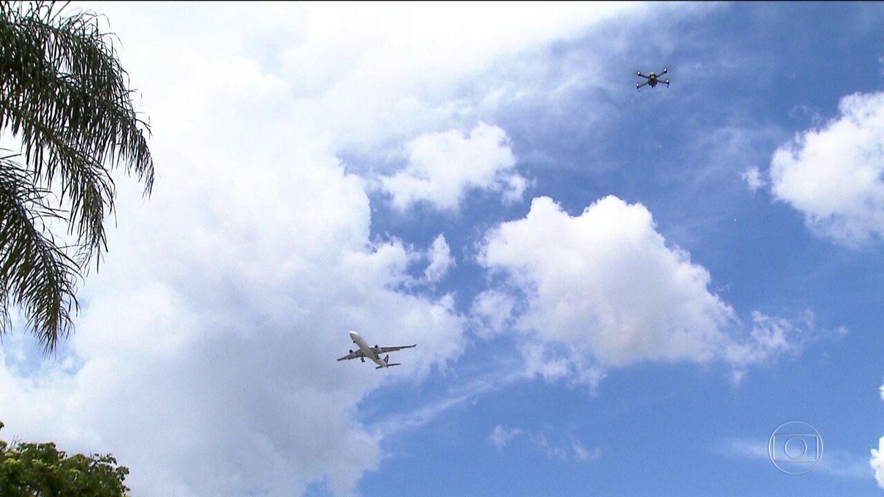 Drones estão no radar de alerta dos pilotos de avião