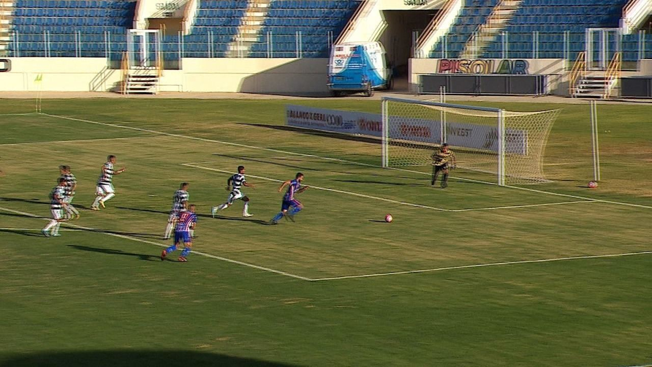 Veja os gols: Guarany 1 x 3 Itabaiana