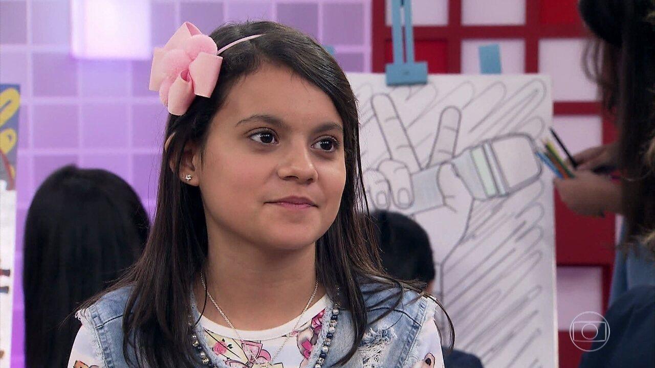 Duda conta um pouco mais sobre ela em entrevista ao The Voice Kids