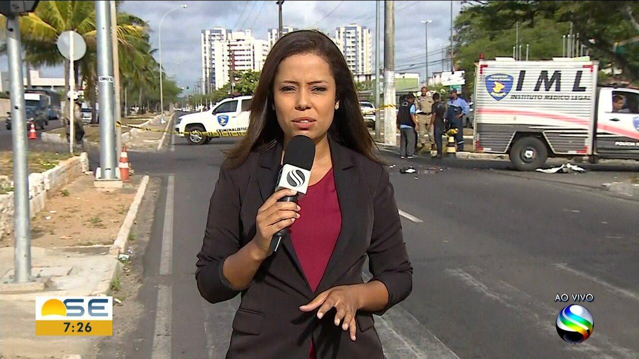 Batida na Zona Sul de Aracaju deixa um morto e um ferido