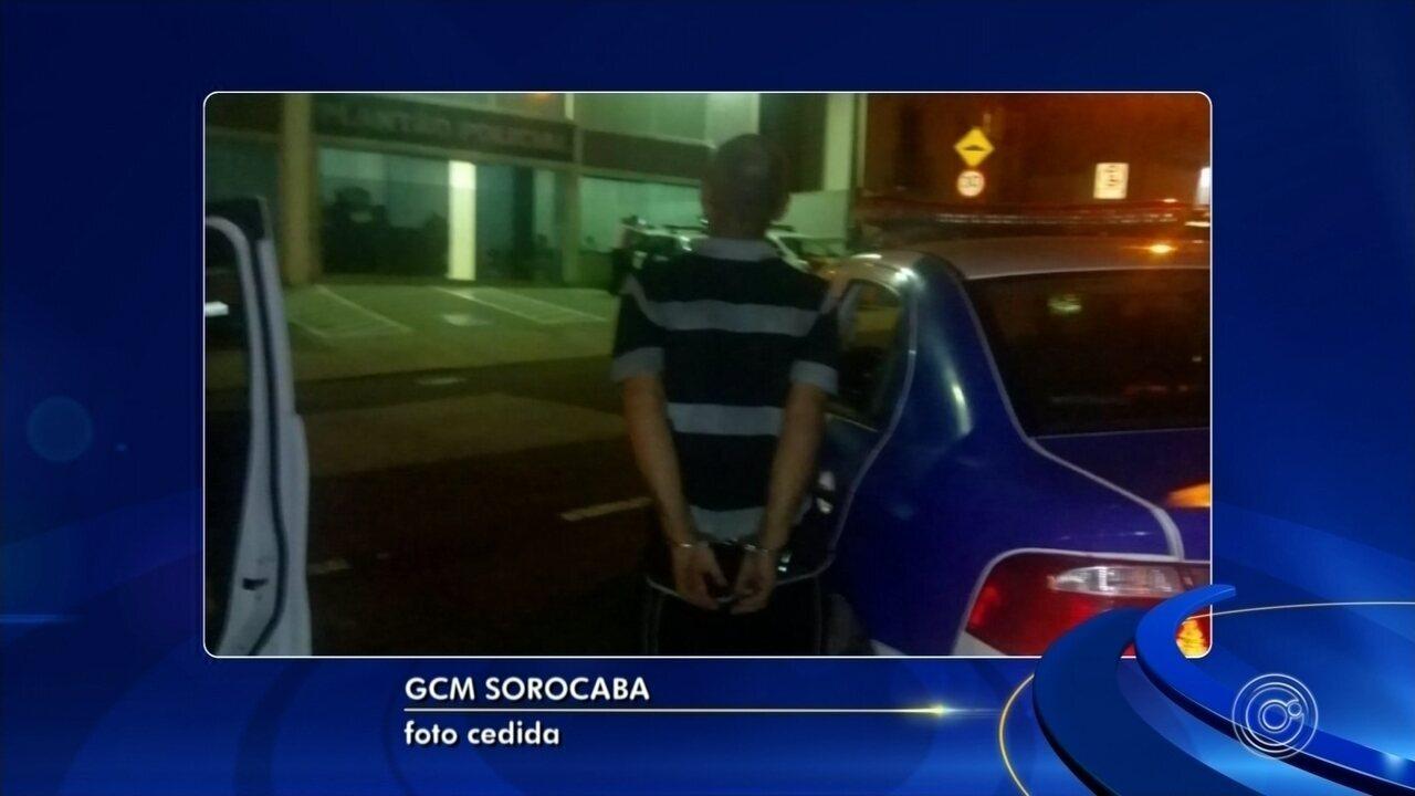 GCM de Sorocaba atende 6ª chamada do ano do 'Botão do Pânico' e prende homem