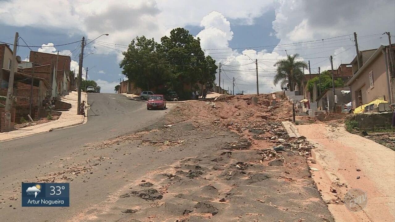Situação precária impossibilita trânsito em ruas de Campinas