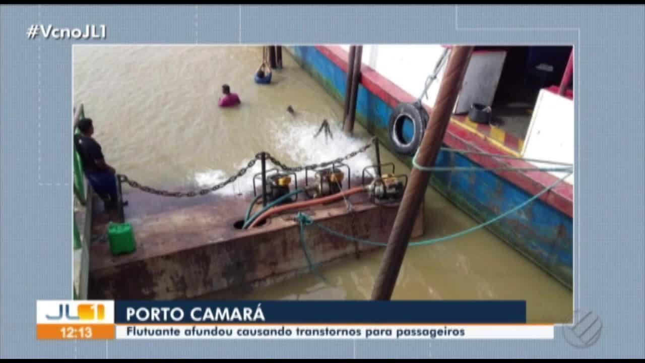 Flutuante do porto de Camará afunda e causa transtornos para passageiros