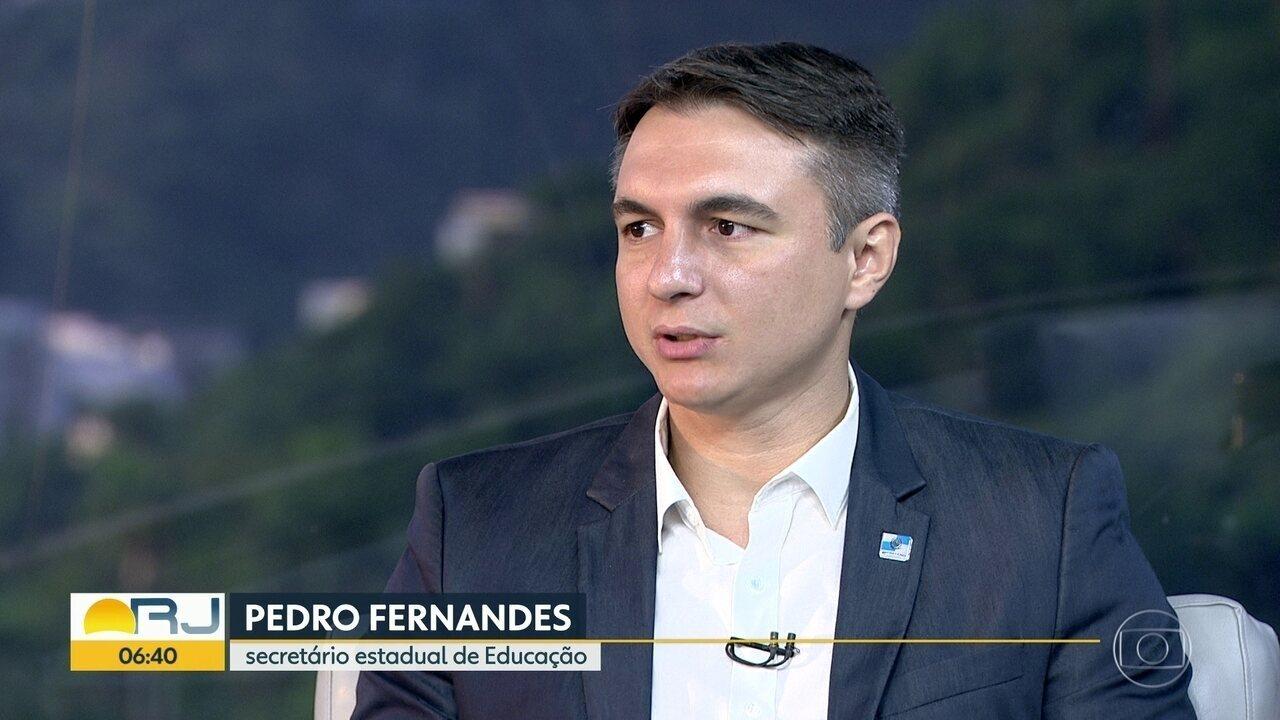 Secretário estadual Pedro Fernandes comenta sobre desafios na área da educação