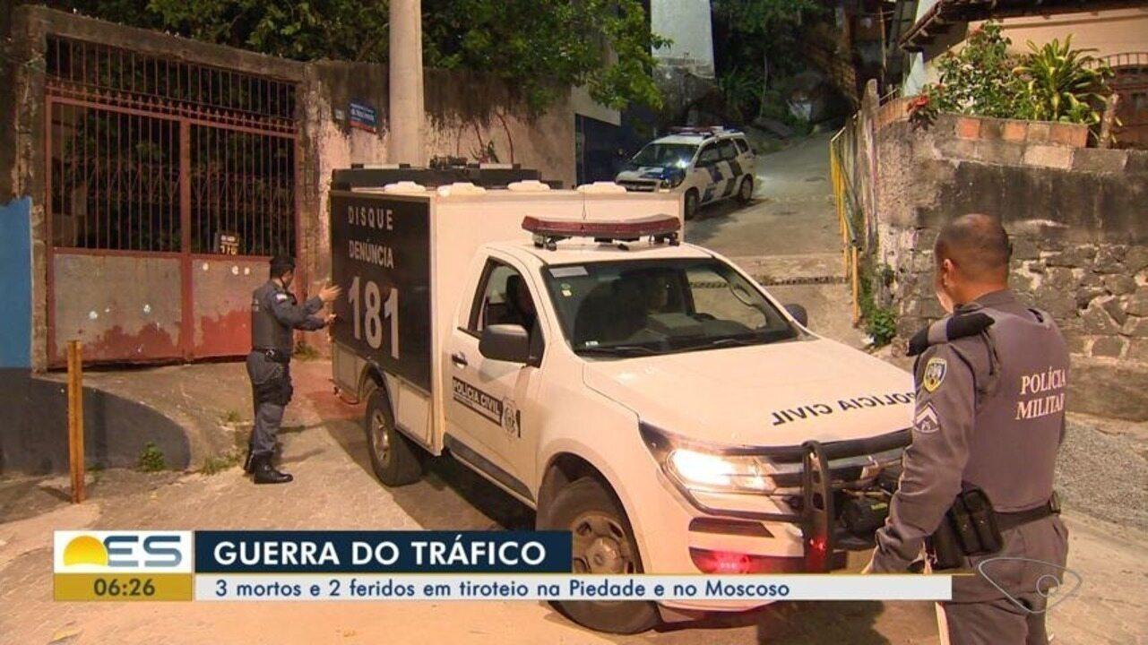 Tiroteio deixa mortos e feridos no Morro do Moscoso, em Vitória