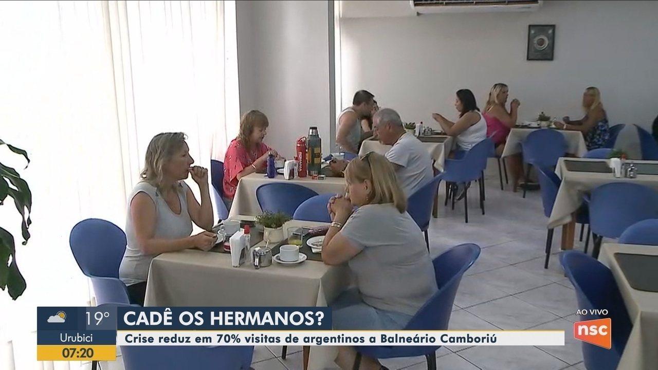 Crise reduz em 70% visitas de argentinos a Balneário Camboriú, diz Secretaria de Turismo