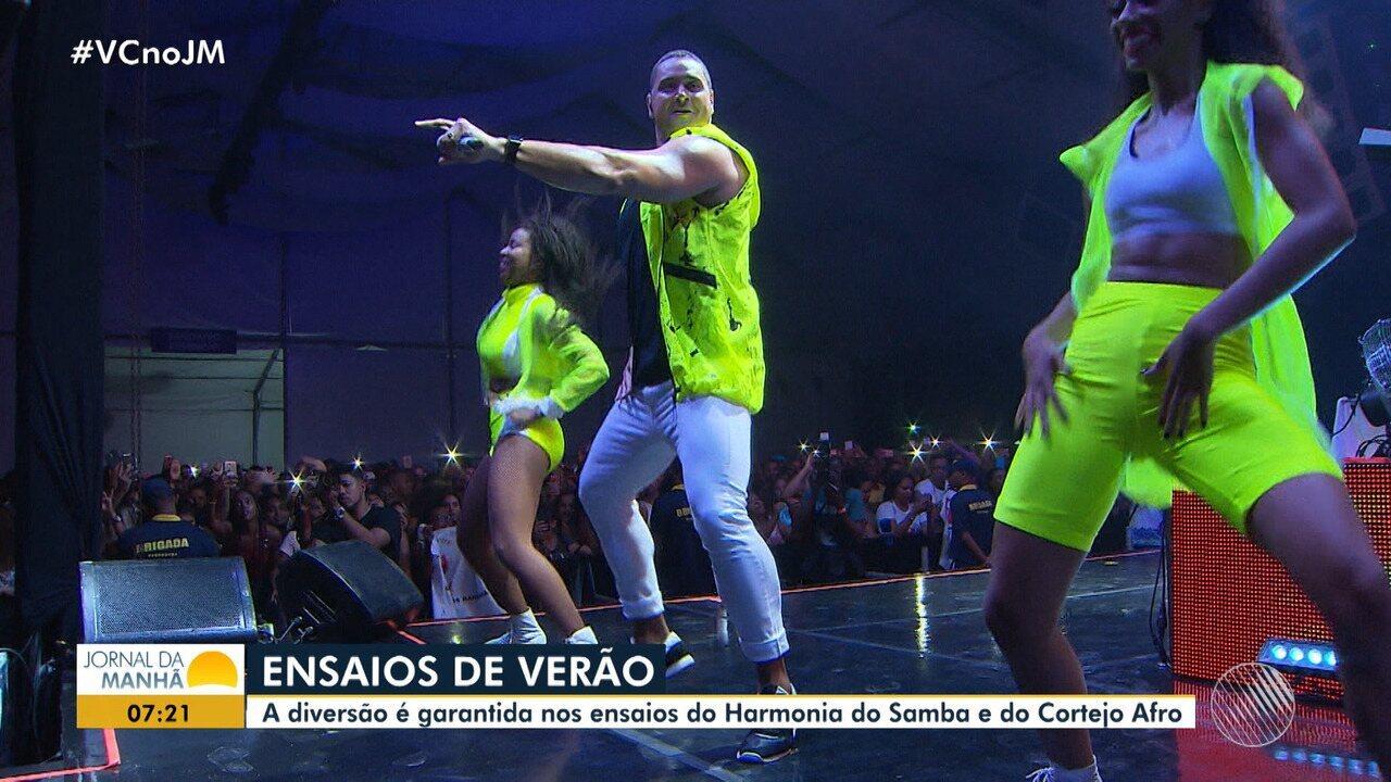 Harmonia do Samba recebe Dilsinho e Mariana Xavier em tradicional ensaio de verão