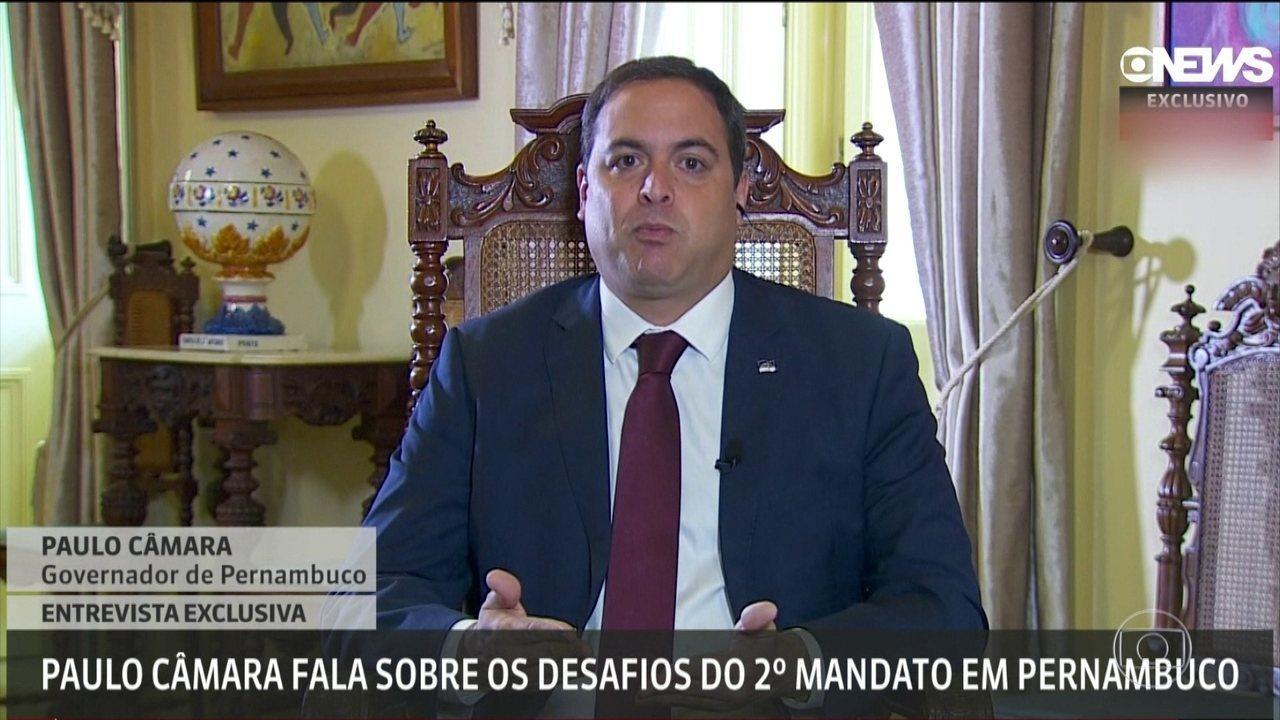 Governador Paulo Câmara diz que foi obrigado a aumentar investimentos em saúde e segurança