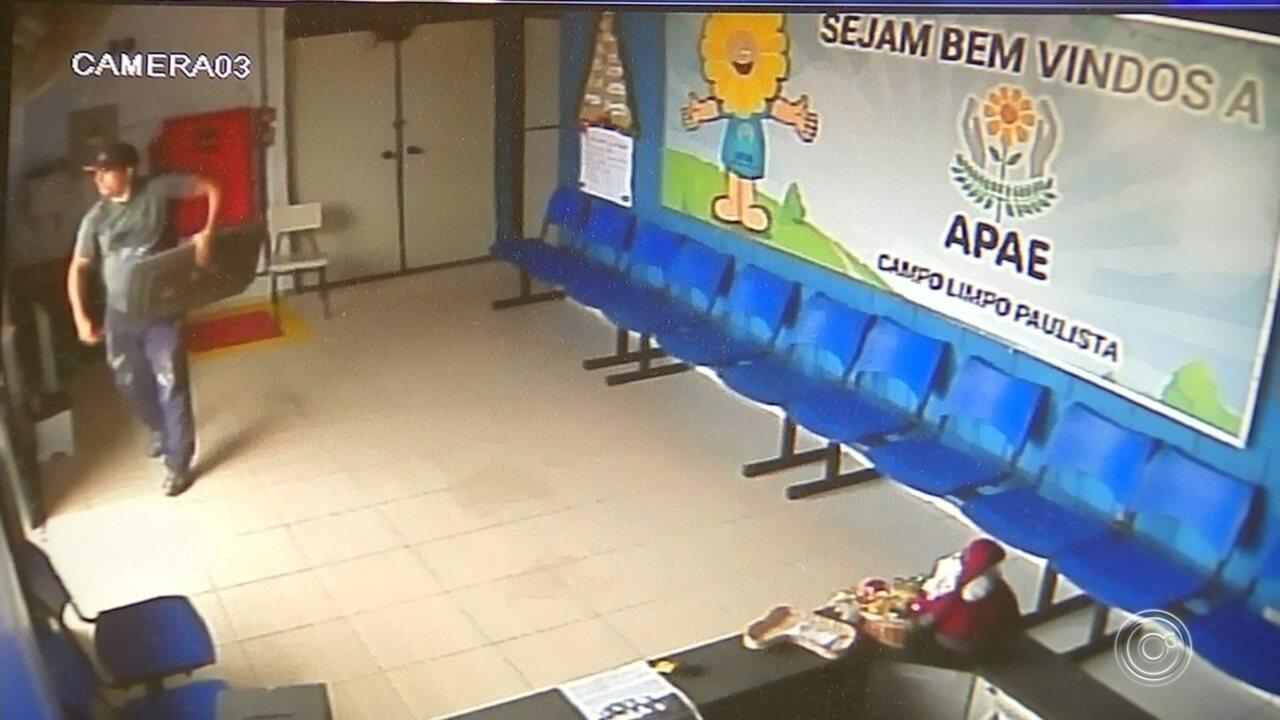Resultado de imagem para Homem que furtou APAE de Campo Limpo Paulista confessa estar arrependido
