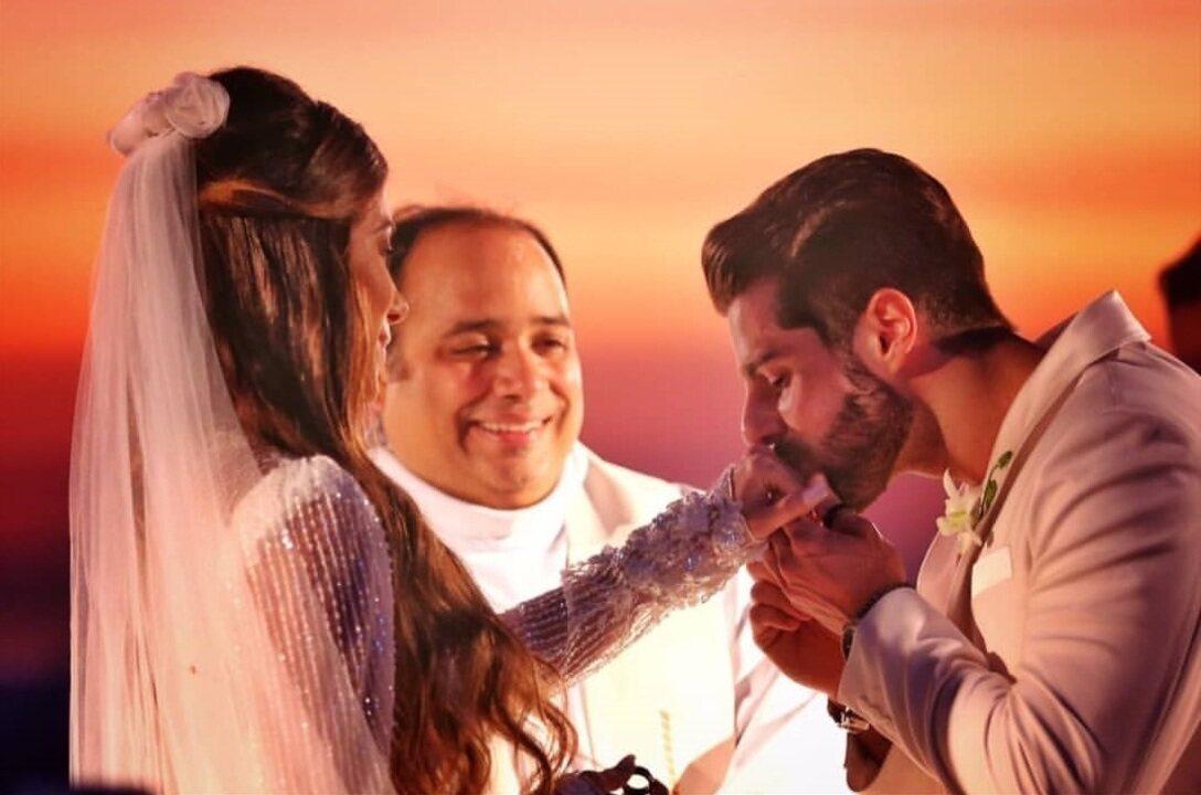 Alok mostra vídeo de seu casamento com Romana Novais aos pés do Cristo Redentor