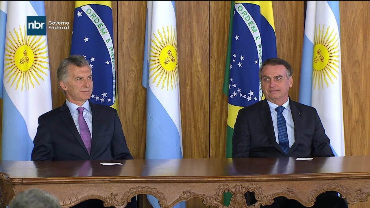 Bolsonaro se reúne com presidente da Argentina, Mauricio Macri