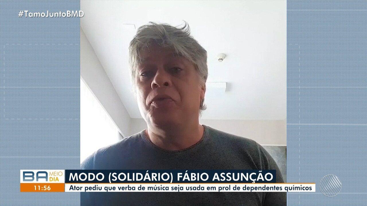 Fábio Assunção pede que arrecadações de música com seu nome sejam doadas a ONGs