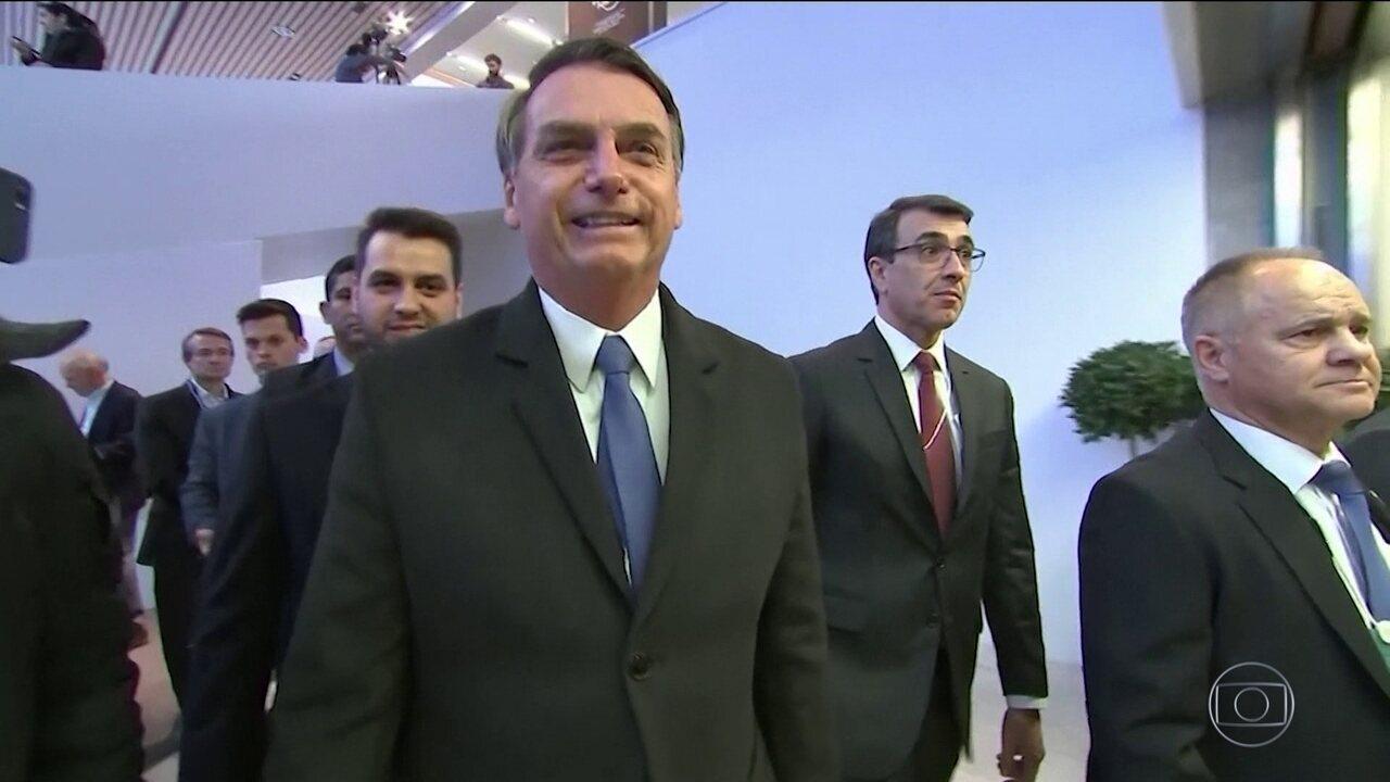 Bolsonaro se reúne com chefes de governos e empresários em Davos