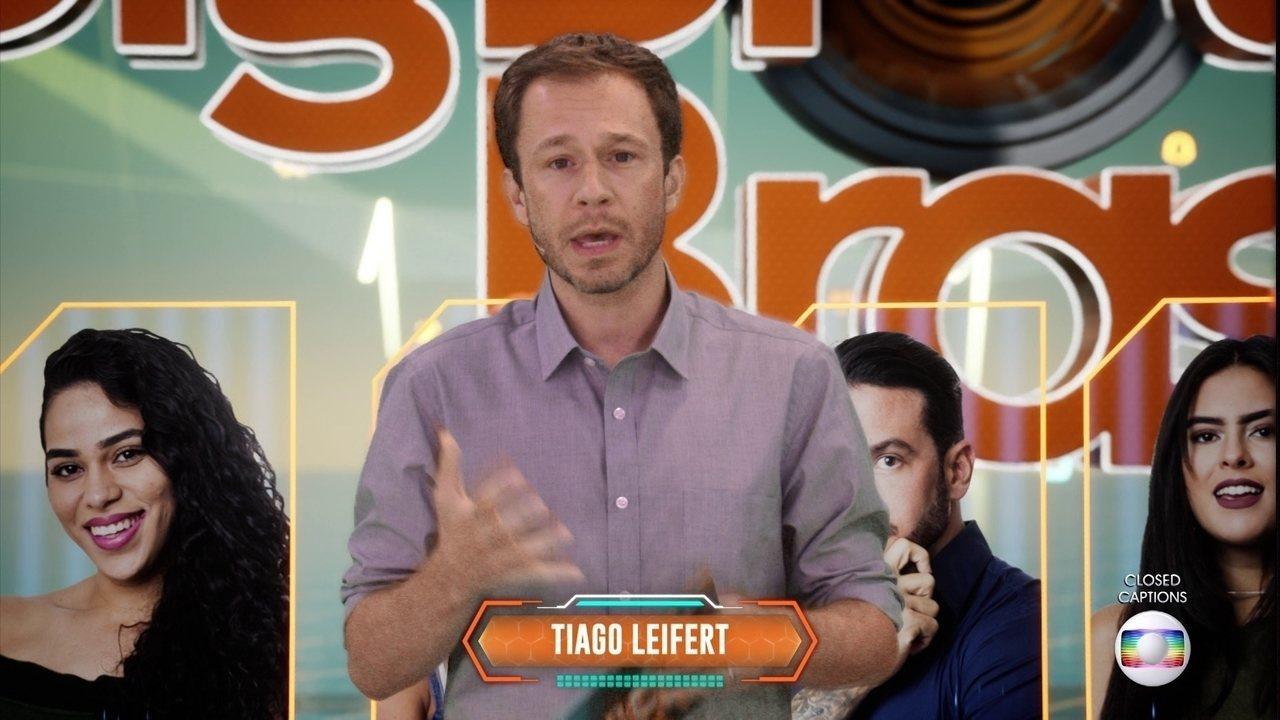 Tiago Leifert explica a desclassificação de Vanderson do BBB19