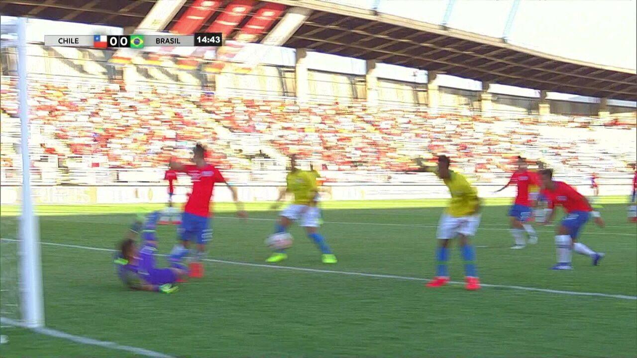 Melhores momentos  Chile 1 x 0 Brasil pelo Sul-Americano sub-20 522e840b26443