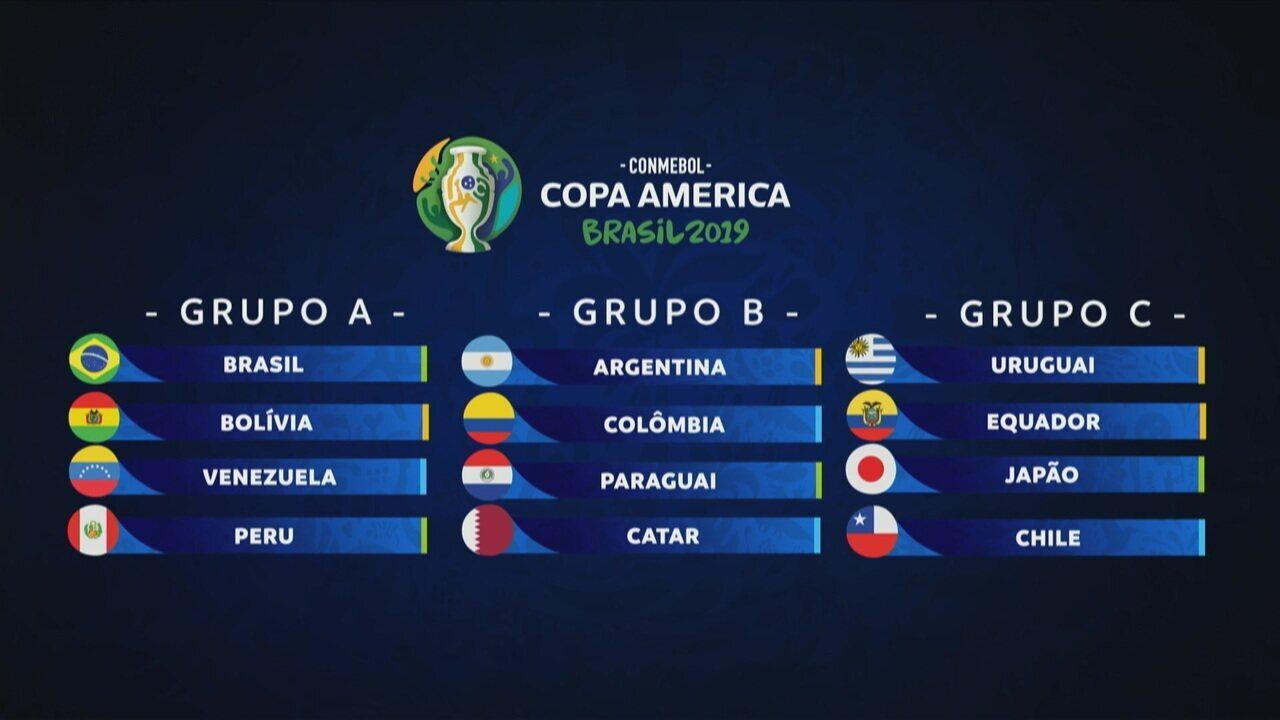 Veja como ficou o grupo do Brasil na Copa América 2019