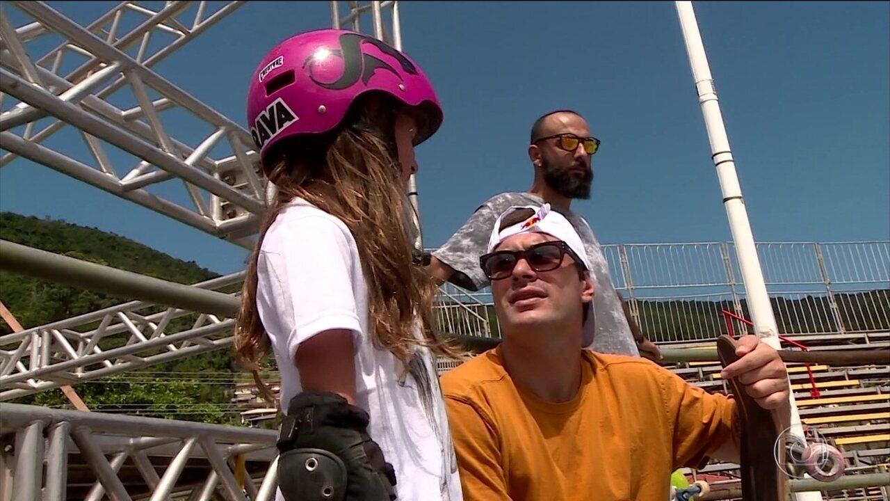 Pedro Barros inspira jovens skatistas em Florianópolis