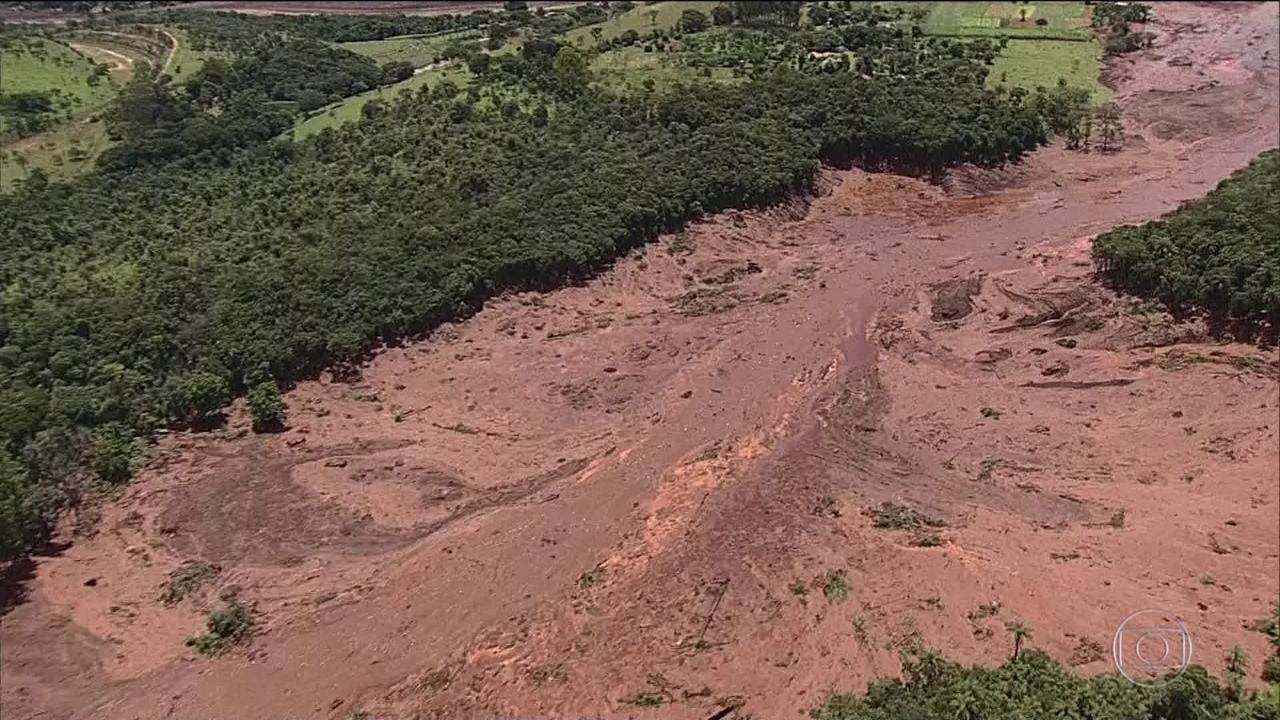 Veja no JN: barragem se rompe em Brumadinho, em Minas Gerais