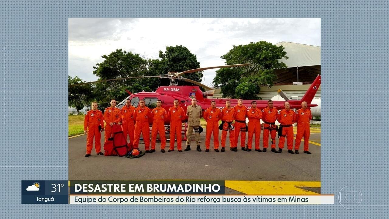 Governo do Rio envia ajuda à Minas Gerais para ajudar em resgate de vítimas em Brumadinho