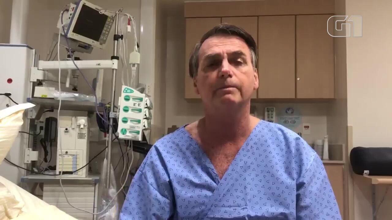 Presidente Jair Bolsonaro fala sobre a internação no Hospital Albert Einstein