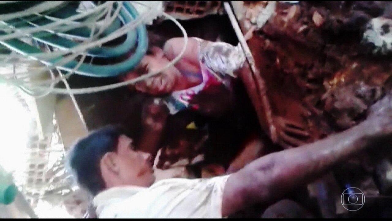 'Foi desesperador', conta mulher que ficou presa em escombros em Brumadinho
