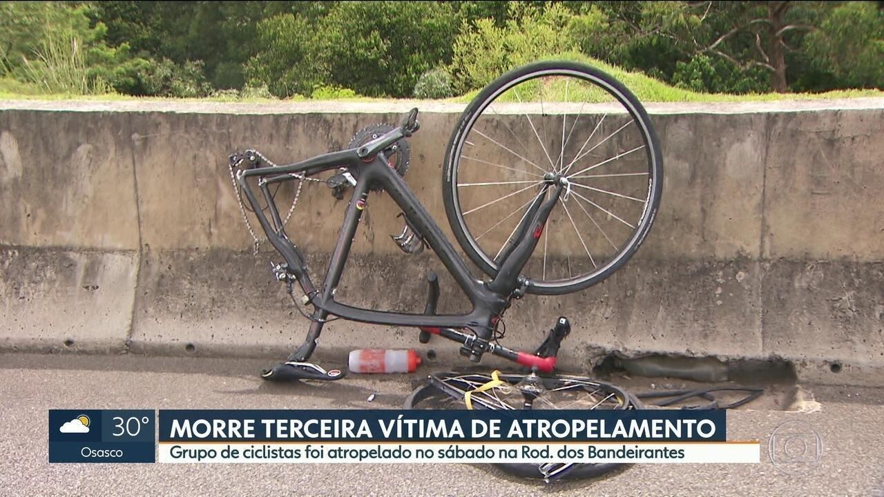 Morre terceiro ciclista vítima de atropelamento na Rod. dos Bandeirantes no sábado (26)