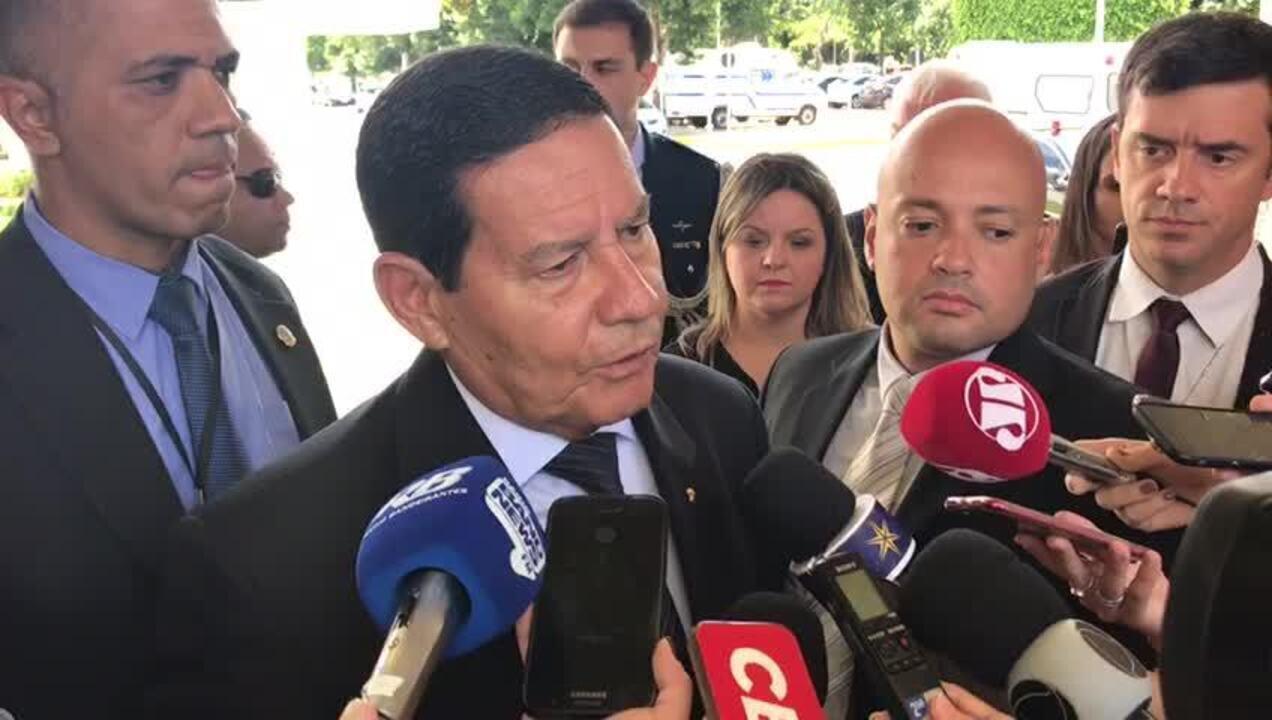 Mourão comenta tragédia da barragem de Brumadinho