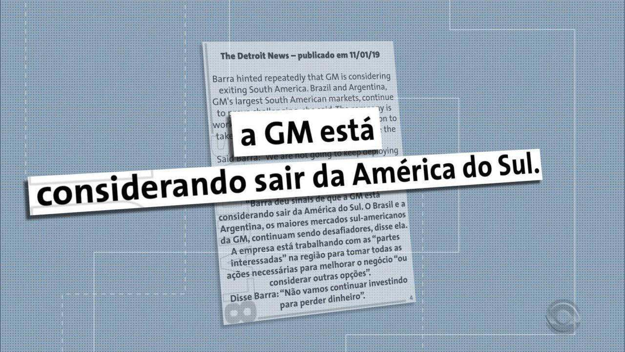 Anúncio de medidas para superar crise preocupa funcionários da GM em Gravataí