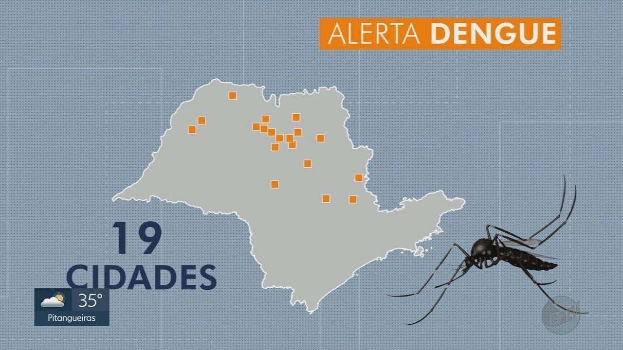 Dengue tipo 2 deixa cinco cidades da região de Ribeirão Preto em alerta