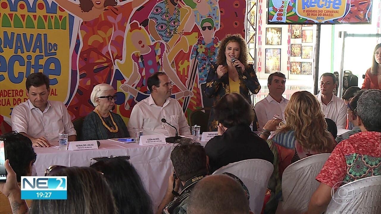 Programação do carnaval do Recife em 2019 é anunciada pela prefeitura