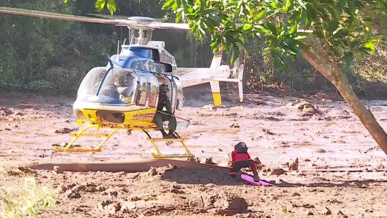 Lama fofa dificulta o trabalho de resgate de vítimas em Brumadinho