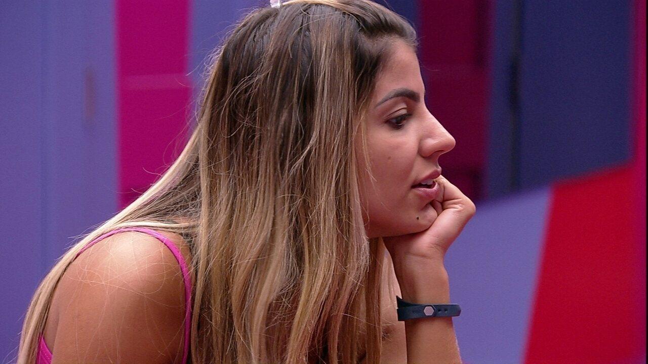 Hana sobre reação de Isabella após Maycon não querer duplar com ela na Prova do Anjo: 'Ficou bolada'