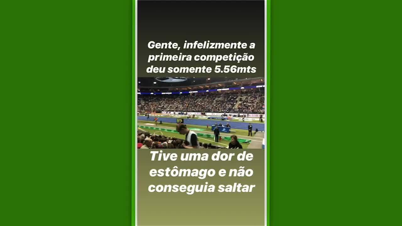 Thiago Braz relata problema no estômago durante competição