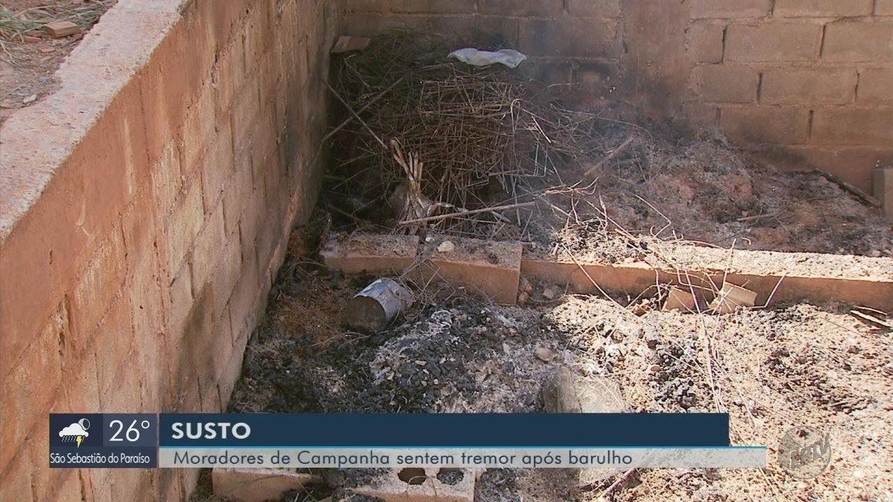 Explosão em piscina em construção provoca tremor de terra em Campanha (MG)