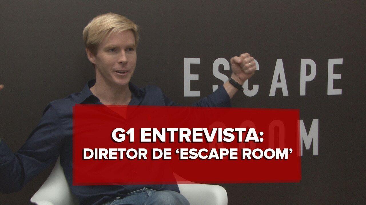 'Escape Room' é suspense para crianças, diz diretor Adam Robitel
