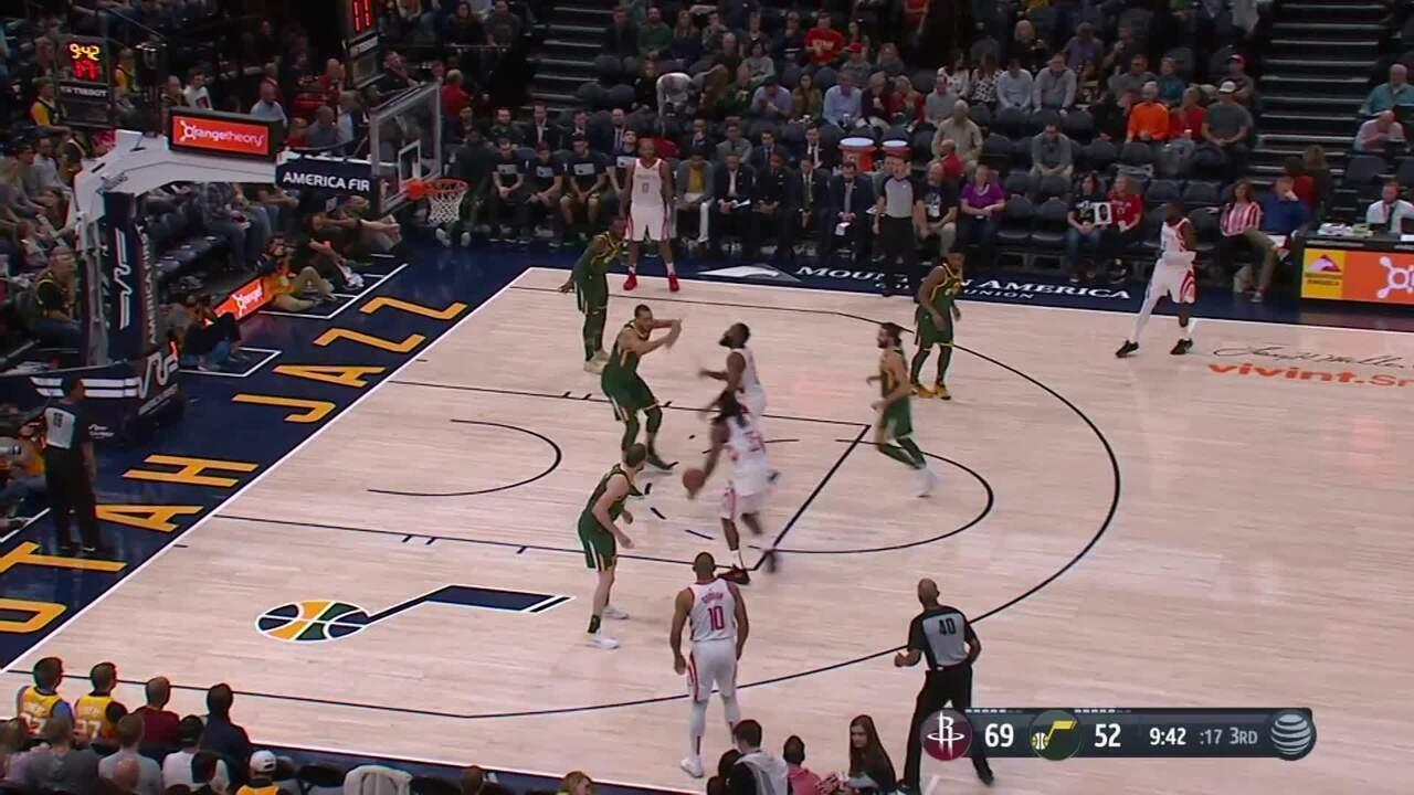 Melhores momentos  Houston Rockets 125 x 98 Utah Jazz pela NBA 0ef845f78d44b