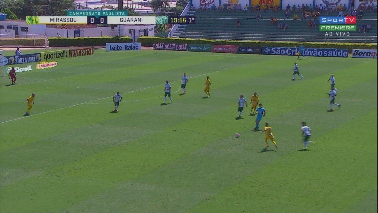 Os melhores momentos de Mirassol 2x2 Guarani pela quinta rodada do Campeonato Paulista
