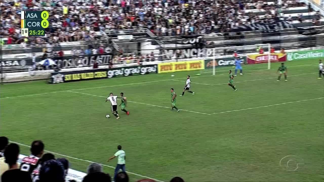 Veja os gols de ASA 2x3 Coruripe, pela 3ª rodada do Alagoano