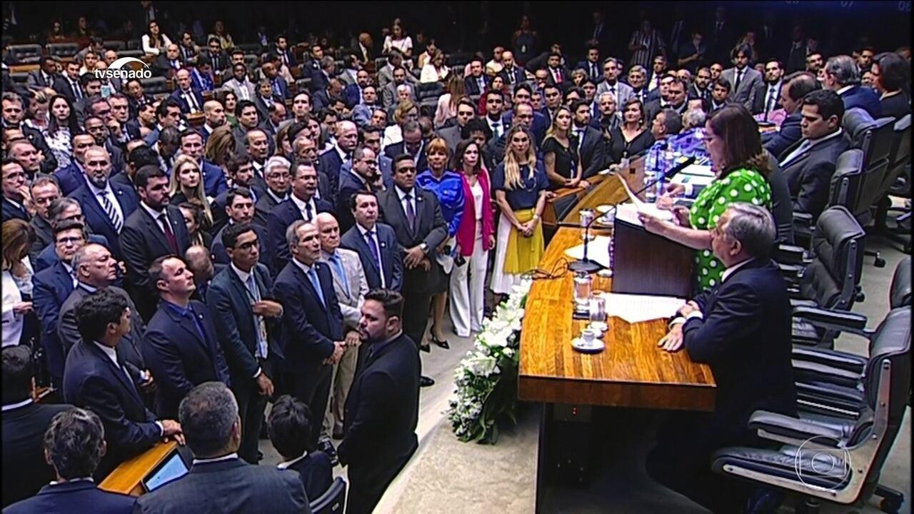 Bolsonaro declara guerra ao crime organizado na abertura do ano legislativo