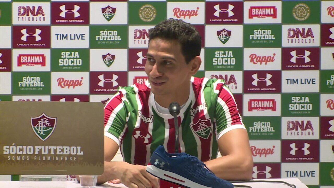 Ganso responde sobre Sampaoli na apresentação ao Fluminense 52a23aee444f4