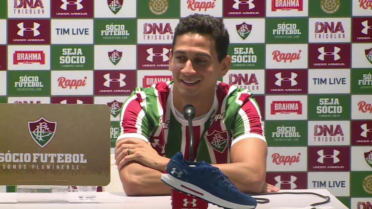 """Paulo Henrique Ganso responde a torcedor mirim e faz pergunta ao jovem: """"Primeiro gol será de fora da área"""""""
