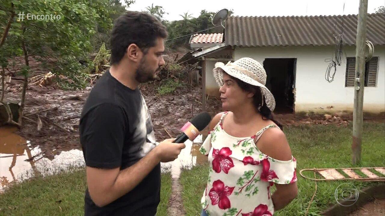 André Curvello conversa com família que perdeu tudo na tragédia de Brumadinho