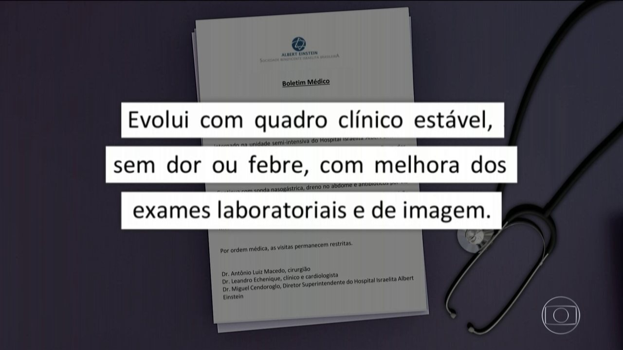Sem dor nem febre, Bolsonaro volta a caminhar no hospital