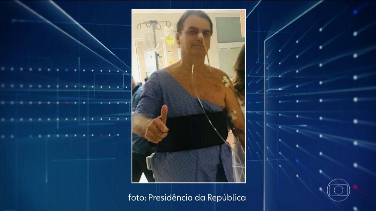 Tomografia mostra que Bolsonaro tem pneumonia