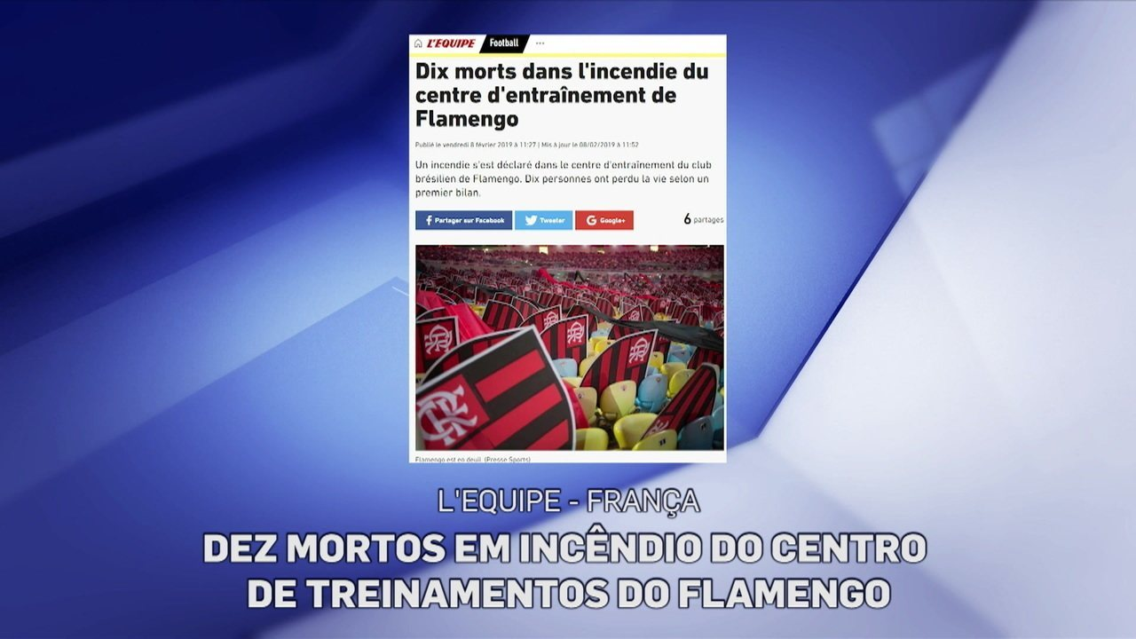 Luto no futebol. Clubes e jogadores do mundo inteiro lamentam incêndio no CT do Flamengo