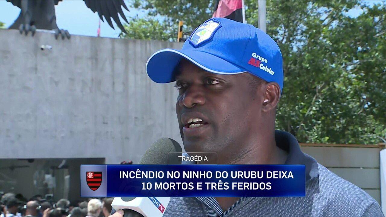Beto, ex-jogador do Flamengo e pai de atleta da base, fala sobre a tragédia no CT do clube
