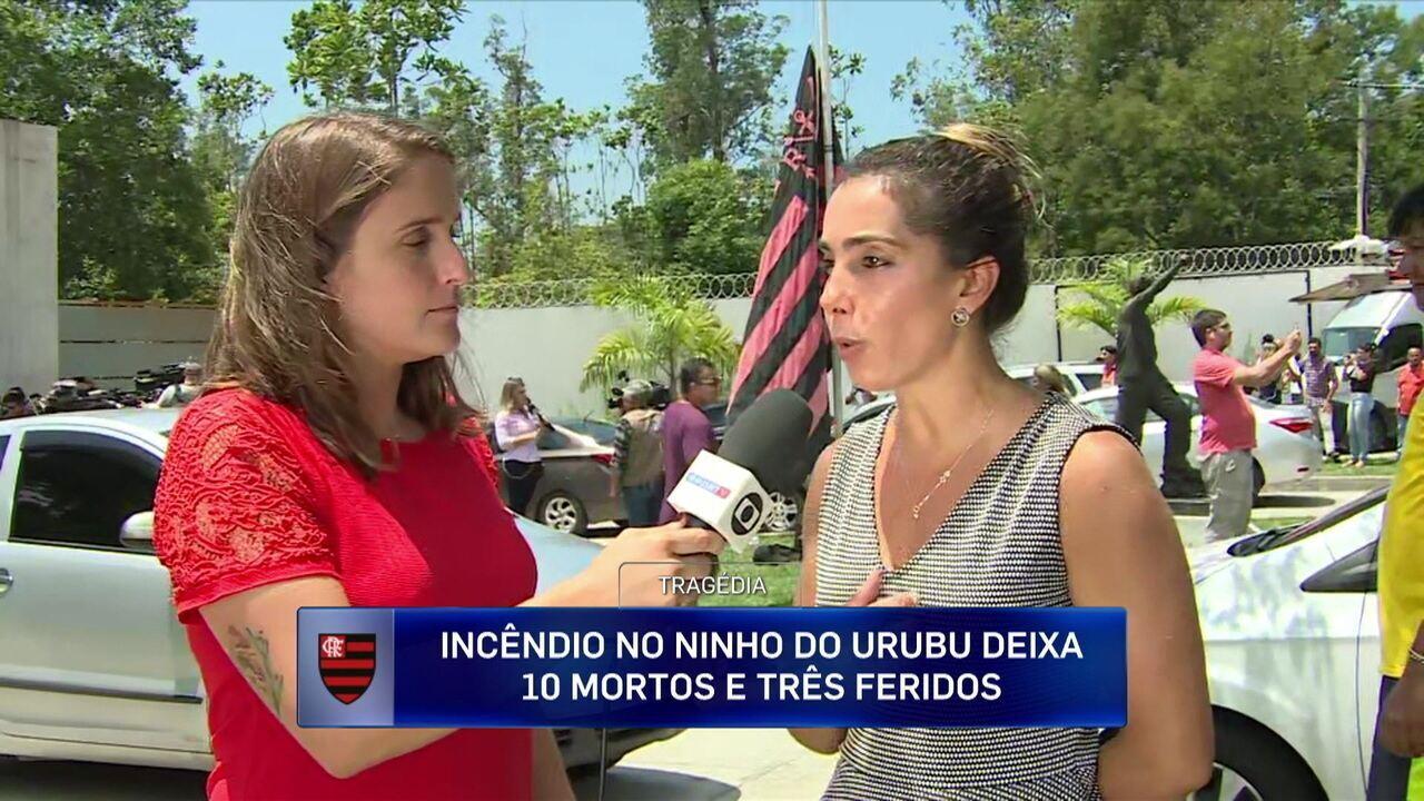 Vizinha do Ninho do Urubu relata que não ouviu o incêndio começar, mas viu