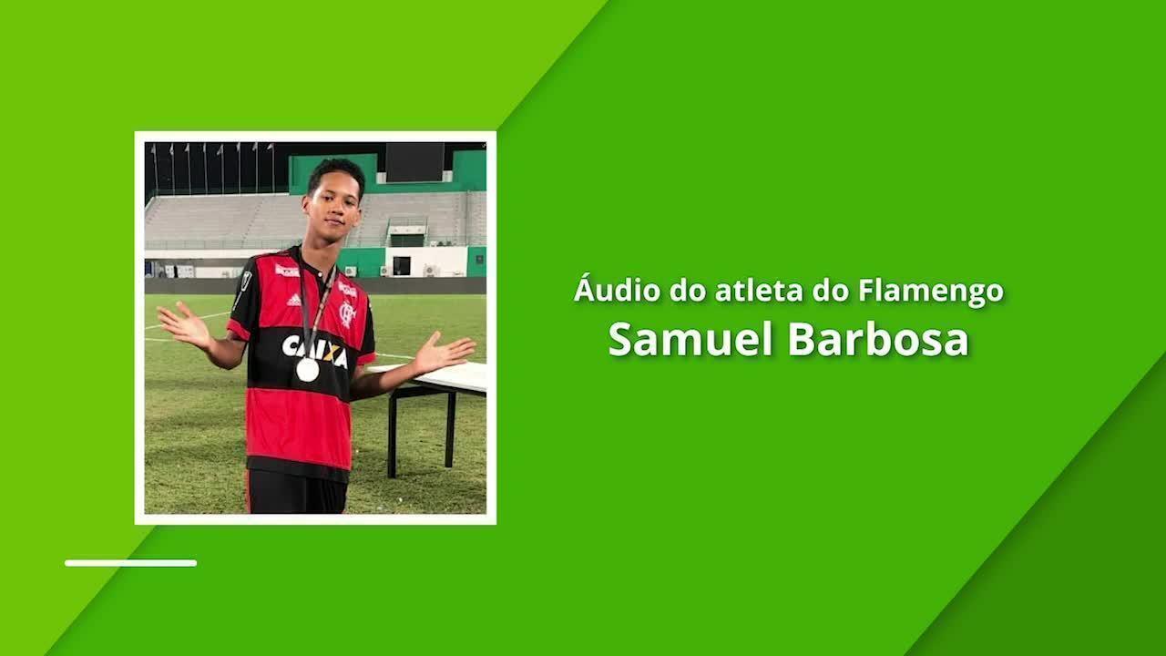 Áudio do atleta Samuel Barbosa, que sobreviveu ao incêndio no CT do Flamengo